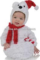 Christmas Polar Bear Bunting Infant Costume CC224