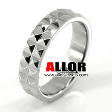 Fashion Shiny Polish Stainelss Steel Muti Faceted Rings