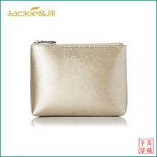 GF-B101 Soft Gold Leather Cosmetic Bag