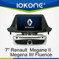 7'' hd en el tablero de la pantalla táctil de doble din car dvd player para renault fluence/megane ii/iii con gps