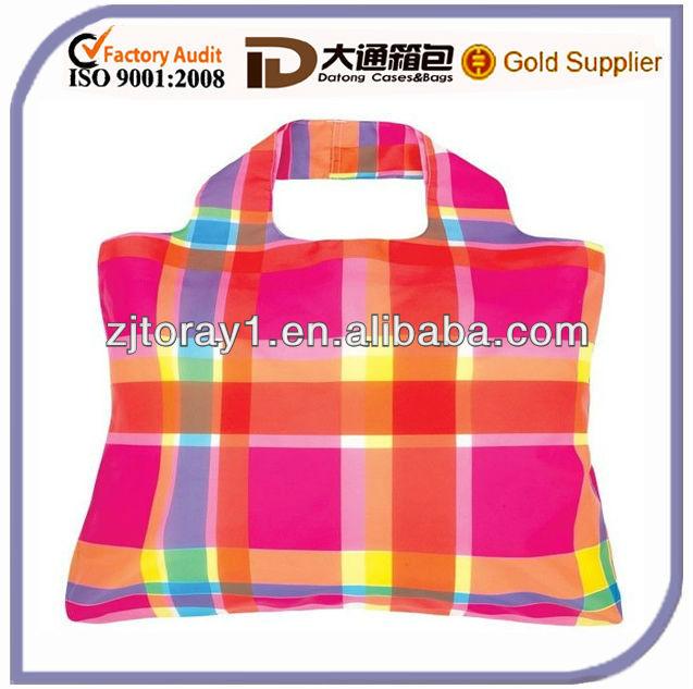 2013 fashion nylon foldable shopping bag ISO9001:2008
