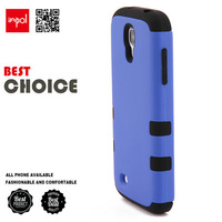 Premium hybrid shock proof silicon phone case for samsung S4 in matte PC hard back cover