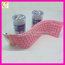 Newest lovely good quality silicone Computer wireless bluetooth flexible keyboard