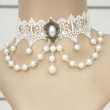 MYLOVE antique bridal necklace choker pearl handmade MLMTN62
