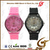 Fashion Colored Silicon Watches With Chrysanthemum Dial