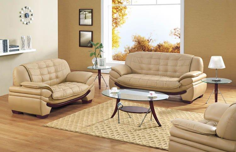 Decosee Camel Leather Sofa