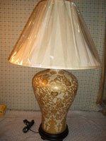 Gold patterned vase