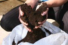 Certified organic fertilizer / biohumus / vermicompost made from cow manure by using California worms / Eisenia Fetida