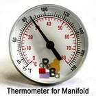 Thermometer for Floor Heating Manifold