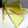 4mm 5mm 6mm en línea de cristal amarillo/de oro amarillo color del vidrio flotado