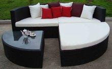 2013 Hot Sales Wicker Rattan Outdoor sun bed CF643