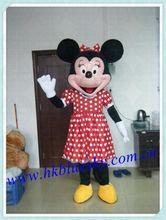 La más alta calidad fiberglas minnie del traje del ratón