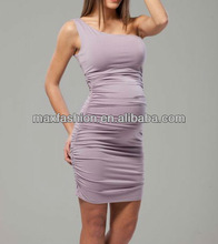 One Shoulder Maternity Fitting Formal Dress