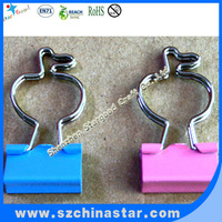 red,green colors apple shape bulldog clips