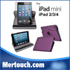 For best ipad case , 360 rotation stand leather case cover for ipad mini
