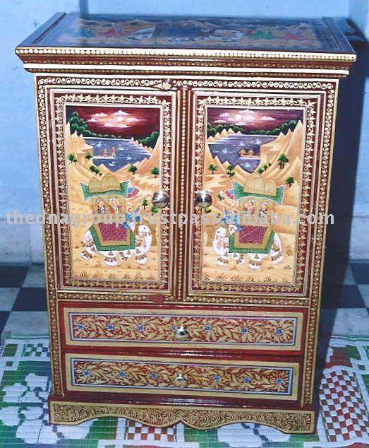 Meubles peints indien meubles en bois id du produit 112138434 - Meubles indiens peints ...