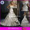 M015 latest strapless off shoulder A-line wedding dress 2012