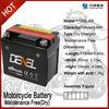 MF battery for motorcycle/ street bike battery 12V 4AH YTX5L-BS