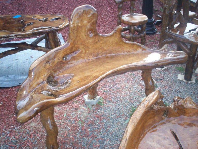 banco de jardim rustico : banco de jardim rustico:Rustic Wood Benches Outdoor