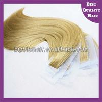 Alibaba top grade product 20 inch tape hair factory price supply 100% virgin peruvian hair