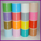 Colorful self adhesive blank address labels in roll