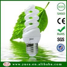 9w Iraq market lamp of 9mm full sprial halogen energy saving lamp