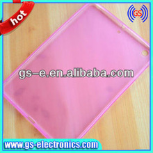 colorful Clear crystal Transparent color TPU Case cover for iPad mini