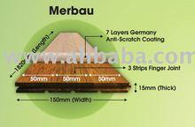 Prefinished Merbau Hardwood Flooring