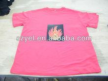 2013 Hottest Custom EL/LED T shirt,Light Up EL/LED T shirt,EL Flashing EL T shirt Online Shopping