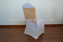 White spandex chair cover with fashional spandex chair sash for sales
