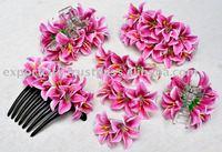 Hyacinth water lily hair comb, hair clip, hair claw