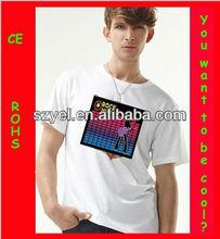 2013 Hottest Wholesale Alibaba LED Light Up EL T shirts,EL Glow T-shirt,Custom LED Light T-shirt Online Shopping