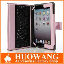 hot sale for ipad bluetooth keyboard case ,bluetooth keyboard with leather case for ipad