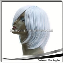 2014 China fashion Cosplay wig,Brazilian virgin hair,Yiwu hair heat resistant synthetic hair wig smooth and gossy