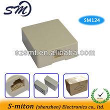 Ivory 6P4C Telephone Surface Mount Jacks rj11 surface box
