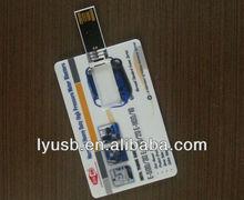 business card flash drive 4gb ,printed usb card full capacity ,credit card usb memory stick plastic box