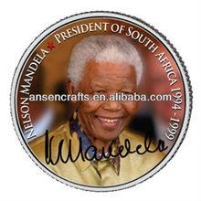 President of South Africa Nelson Mandela silver coin for Executive Mandela coin collector