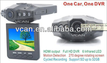 VCAN00142.4inch High definition car dvr recorder camera video recorder HD Cycle recording car for safety