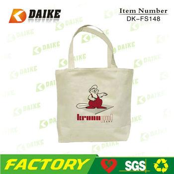 Eco High Quality Canvas Cloth Bag DK-FS148