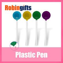 Slim white pen-holder colorful sucker hot wholesale popular custom promotional plastic ball pen