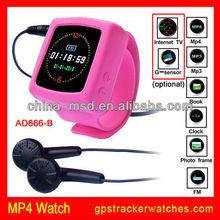 JPEG, BMP, GIF format browsing.FM+4GB TF card memory Mp4 watch AD666