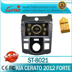 LSQ Star Manufacturer 7inch 2012 Kia Cerato/ Shuma/ Forte Car DVD with GPS Navigation bluetooth radio ipod SWC manual/auto ac