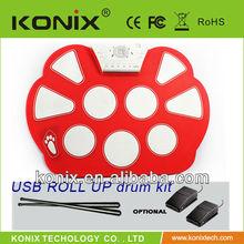 USB MIDI drum, roll up drum kit for kids,hand drum kit