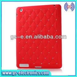 Fashion style for ipad 2 3 ipad mini color starry diamond silicon smart cover case