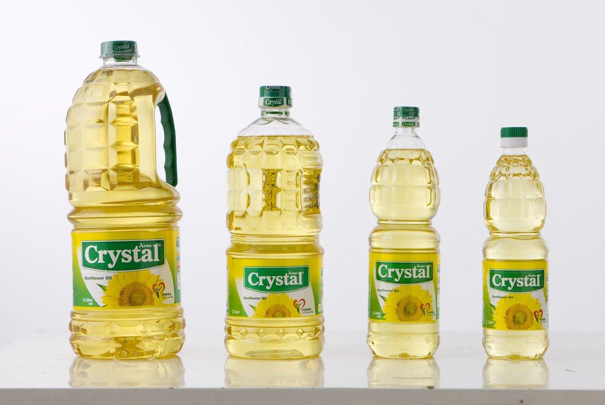 Cristal óleo de girassol