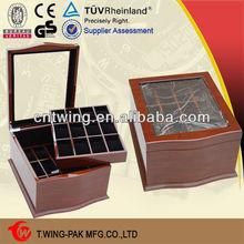 custom cheap wooden watch display cases men