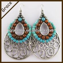 Grace jewelry fashion big oval alloy drop earring