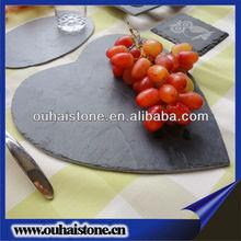High grade hotel dinner set black just slate plate