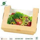 KRAFT PAPER SALAD BOX WITH WINDOW