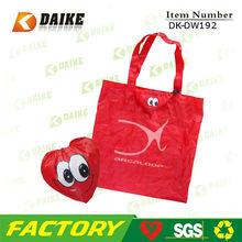 Nylon Top Sale Promotional strawberry folding tote bag DK-DW192